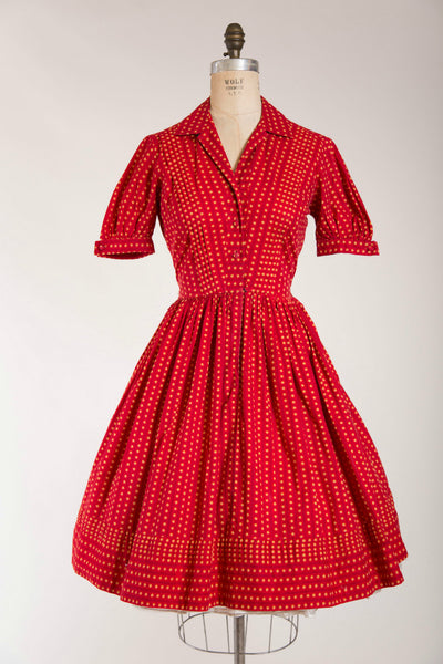 Flushed Frolic Dress - Simply Vintage  - 1