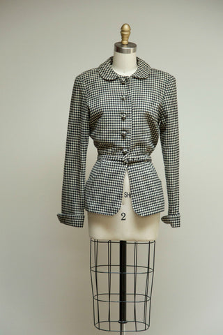 Checkered Tailored Jacket