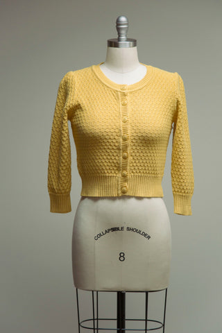 Cotton Crocheted Honey Sweater