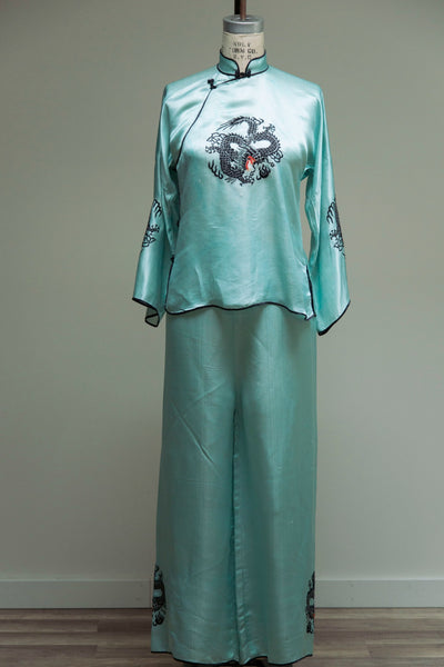Turquoise Dragon Loungewear Set