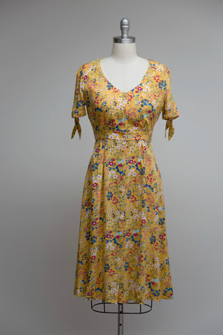 Holly Tea Dress Yellow Floral