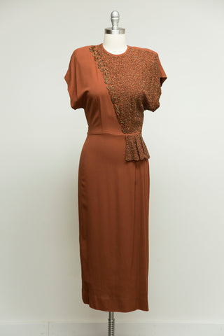 Bronzed Autumn Rayon Dress