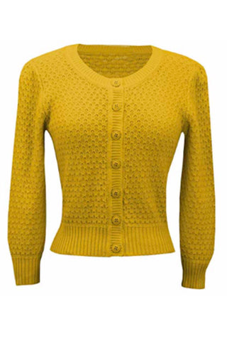 Cotton Crocheted Honey Yellow Sweater