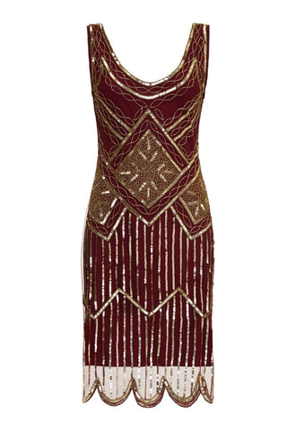 Edith Flapper Dress in Wine - Simply Vintage  - 1