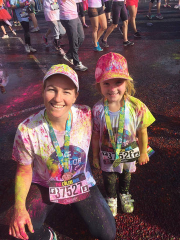 Ruby and Mum at Color Run