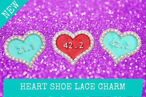 Heart Shoe Lace Charms