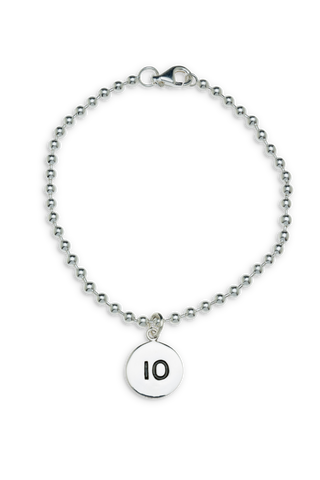 10km Sterling Silver Run Bracelet - Beyond The Medal