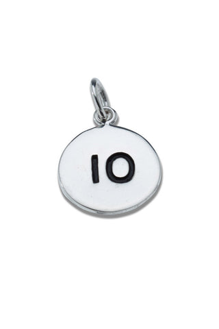 10km Sterling Silver Pendant - round - Beyond The Medal