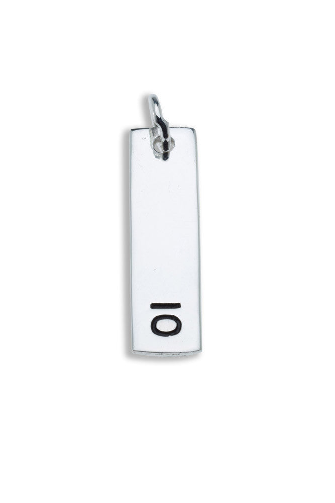 10km Sterling Silver Pendant - rectangular - Beyond The Medal