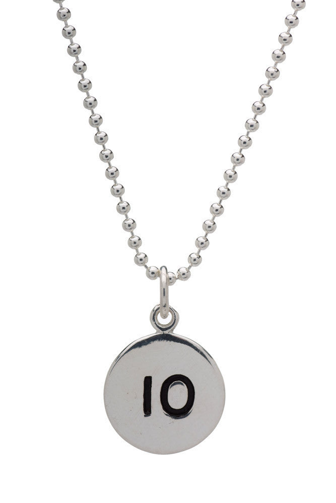 10km Run Necklace - round - Beyond The Medal