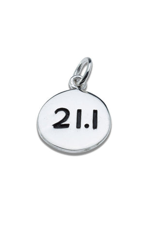 21.1km Sterling Silver Pendant - round - Beyond The Medal