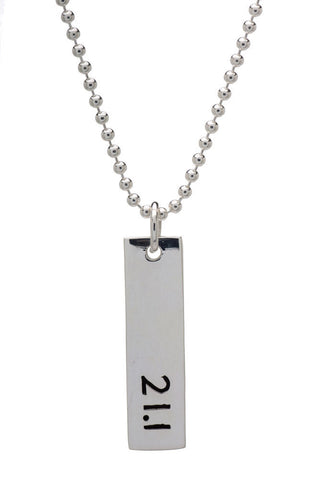 21.1km Run Necklace - rectangular - Beyond The Medal