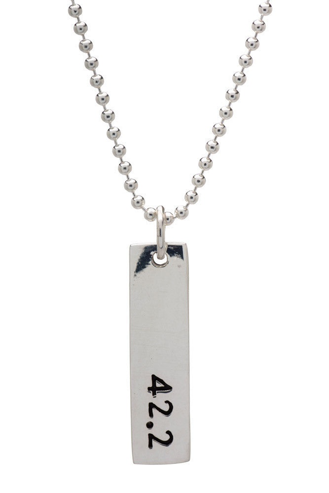 42.2 Run Necklace - rectangular - Beyond The Medal