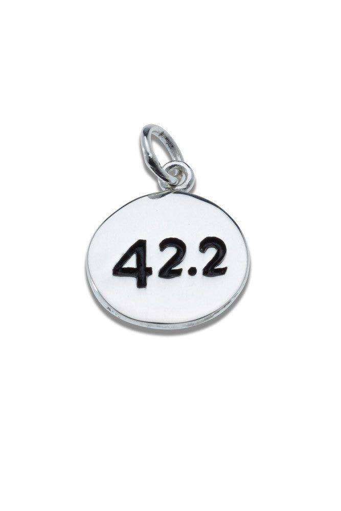 42.2km Sterling Silver Pendant - round - Beyond The Medal