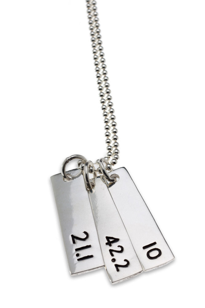 Run Trio Combo Necklace - rectangular - Beyond The Medal