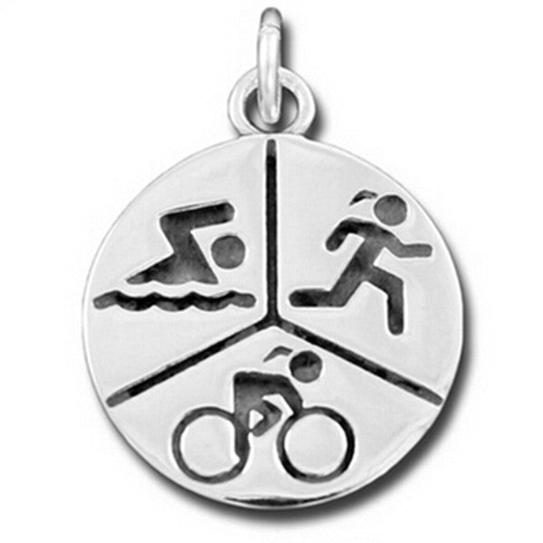 """RUN, SWIM, RIDE"" Triathlon Pendant - Beyond The Medal"