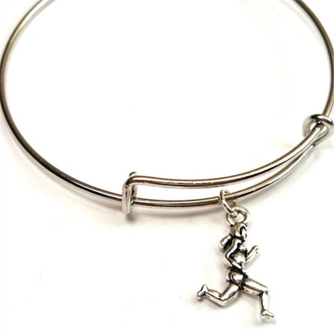 """Running Girl"" Expandable Bracelet - Beyond The Medal"