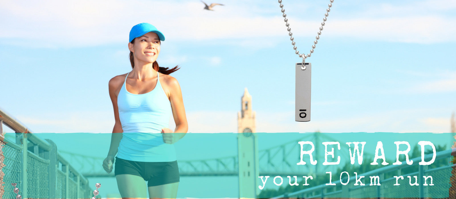 Running Jewellery Reward you 10km run