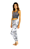 profile of white camo print leggings by PrintLeggings, Co