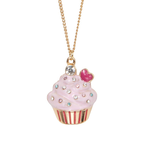 You Are So Sweet Cupcake Necklace  スイート カップケーキ キッズ ネックレス 40cm+5cmアジャスター / 子供 ジュエリー 子供用ネックレス キッズネックレス キッズジュエリー キッズアクセサリー パーティ 発表会 / Lily & Ally リリーアンドアリー / 【メール便可】