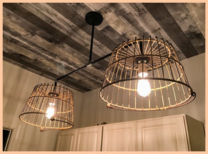 Custom Made Egg Basket Chandelier