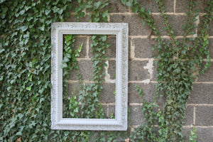 Antique Gray Frame Mirror Frame