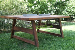Custom Reclaimed Cedar Picnic Dining Table