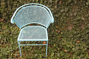 Robins Egg Blue Barrel Back Chair