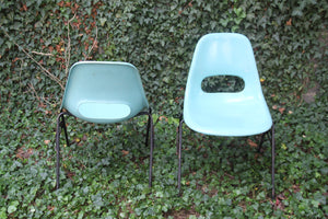 Blue Vintage Krueger Chairs