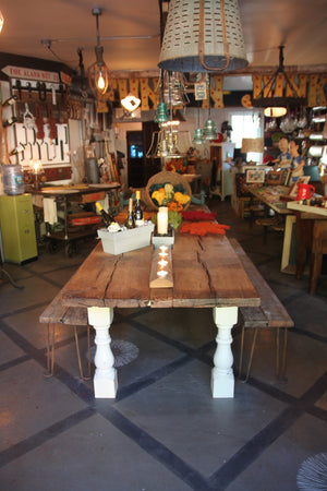 Thrashing Board Farm Dining Table, reclaimed barn wood from 1800s