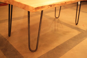 Reclaimed Wood Coffee Table, hairpin legs