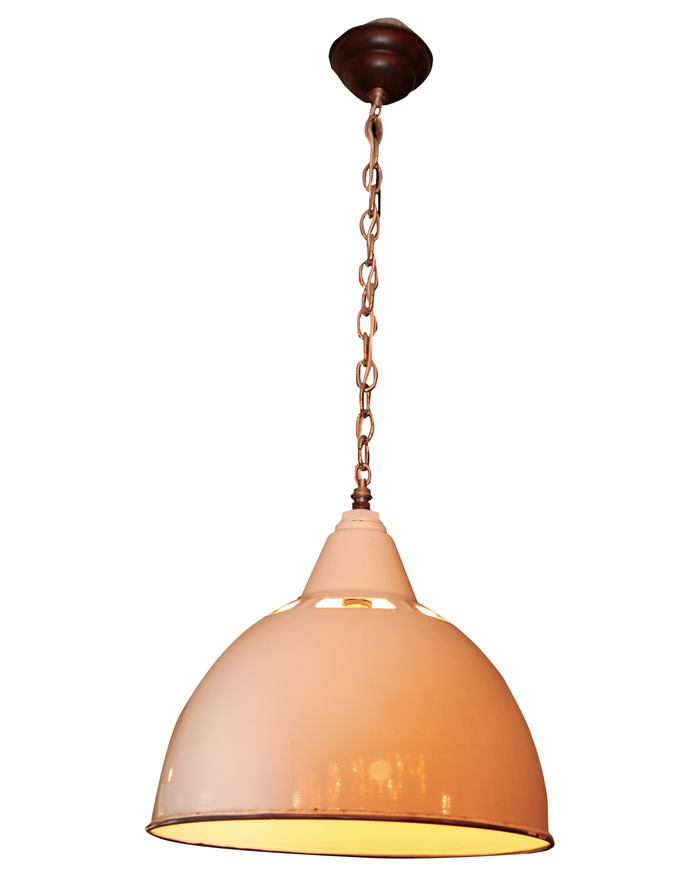 Original Porcelain Factory Hanging Light