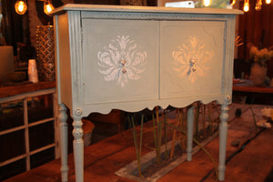 Reclaimed Rustic Furniture Cabinet finished with Annie Sloan Chalk Paint in Duck Egg Blue