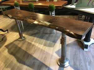 black walnut live edge table