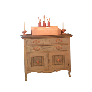 Reclaimed Vintage Vanity, Modern Rustic using Annie Sloan Chalk Paint®