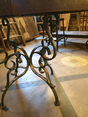 vintage reclaimed cast iron base