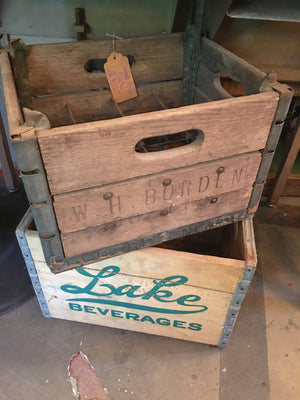 WH Borden Vintage Milk Crate