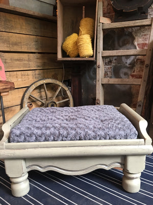 Shabby Chic Dog Bed, Upcycled from reclaimed furniture, finished with Annie Sloan Chalk Paint
