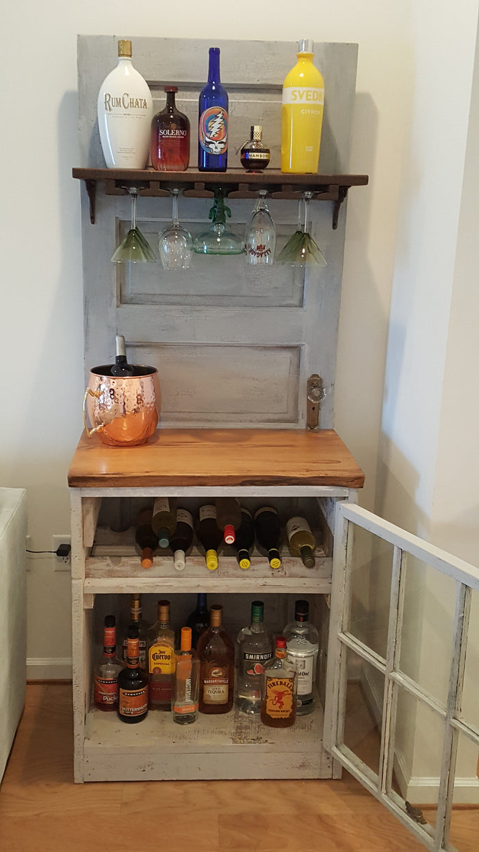 Reclaimed Barn Door Bar
