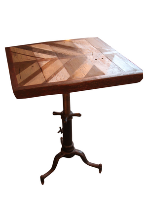 Perfect Pedestal Table from reclaimed barn wood