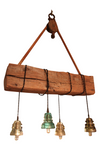 Reclaimed Barn wood Beam Chandelier, vintage insulator lights, Edison lights