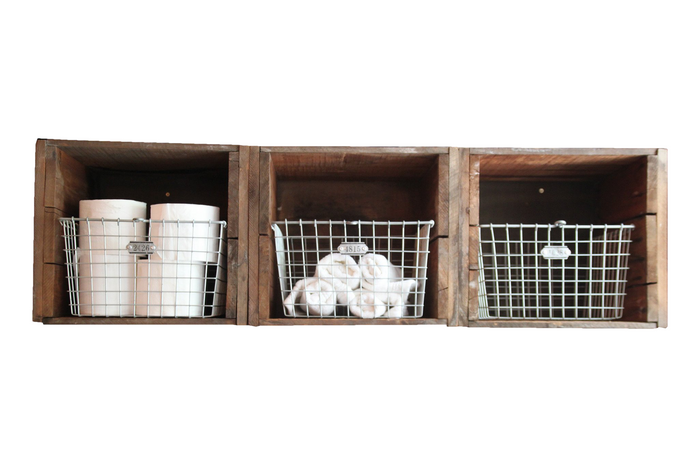 Reclaimed Shipping Crate Shelving