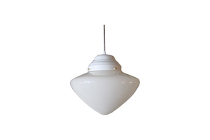 Vintage Milk Glass Pendant Light