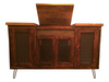 Reclaimed pine wood Stereo Console Unit with hairpin legs
