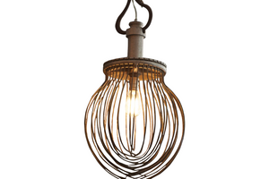 Vintage Whisk Pendant Light