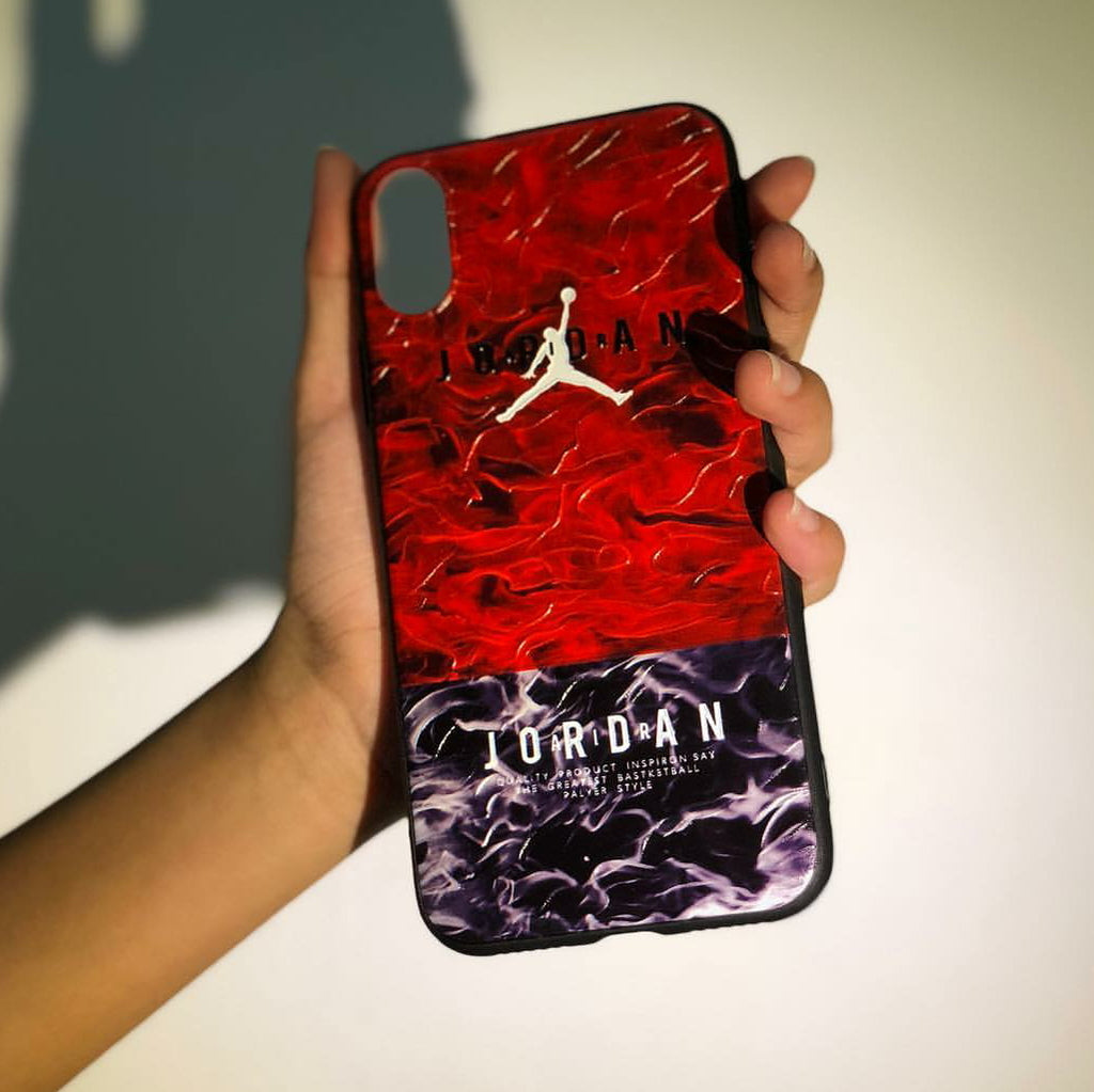 Camo Red Jordan Phone Case - iPhone