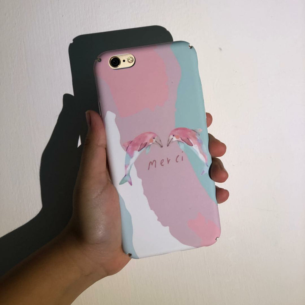 Merci Dolphin Phone Case - iPhone