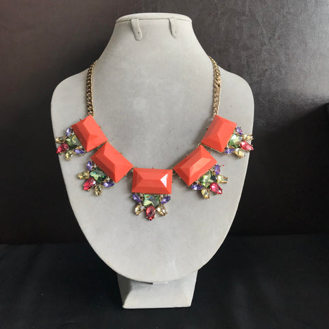 Summer Necklace in Coral