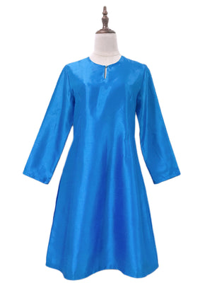 Kurung Pahang Top in Blue