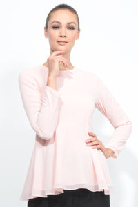 Basic Peplum in Pastel Pink